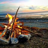 brännhet solnedgång Royaltyfri Bild