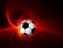 9 brännheta fotboll-/fotbollboll på svart bakgrund Royaltyfri Fotografi