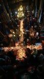 Brännhett kors med krus av honung Arkivfoto