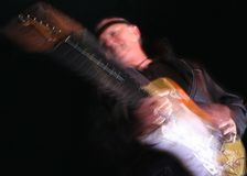 bränning för gitarrmusiksixties Arkivfoton