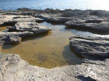 bränning för hav för fin guld för nedgång slags Arkivbilder