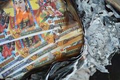 Bränning för helvetesedel Royaltyfri Foto