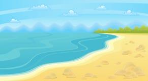bränning för sommar för stenar för strandkustcyprus medelhavs- sand Arkivbild