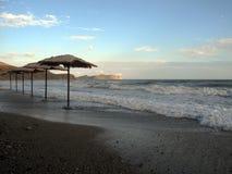 Bränning i den Krim kusten Royaltyfria Foton