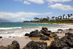 Bränning på en Maui strand Fotografering för Bildbyråer