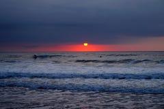 Bränning på solnedgången Royaltyfri Fotografi
