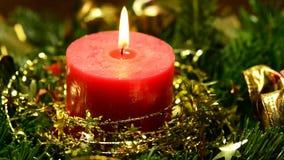 Bränningstearinljuset, lathunden och tysk jul stollen arkivfilmer