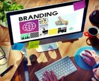 Brännmärka begrepp för advertizingCopyright marknadsföring arkivbilder