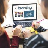 Brännmärka begrepp för idédesignIdentitiy marknadsföring fotografering för bildbyråer