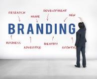 Brännmärka begrepp för marknadsföring för strategi för affärsföretag fotografering för bildbyråer