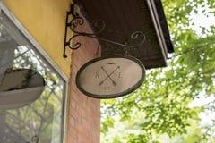 Brännmärka för design för restaurangsignagelogo royaltyfri foto