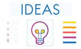 Brännmärka idérik innovation inspirera begreppet stock illustrationer