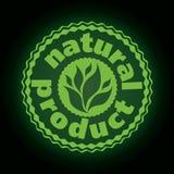 Logoprinting brännmärker naturprodukten Royaltyfria Bilder