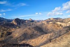 Brännskadaärr på Mulholland arkivbilder