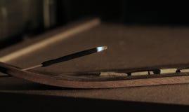 brännskada Arkivfoto
