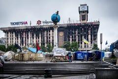 Brännskada som bygger ut Kiev, Ukraina Arkivbilder