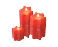 brännskadastearinljusred Royaltyfria Bilder