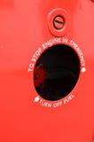 Bränsle klippt av tecken på medlet Royaltyfria Foton