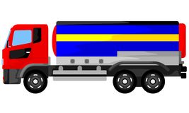 Bränslebehållarelastbil Royaltyfria Bilder