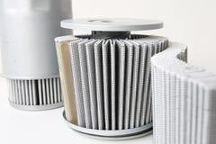 Bränslefilterenhet med plissépapper fotografering för bildbyråer