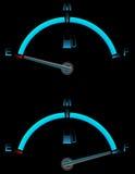 bränslegauge Fotografering för Bildbyråer