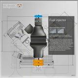 Bränsleinsprutningspump också vektor för coreldrawillustration Vektor för EPS 10 vektor illustrationer