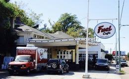 Bränslekafé Memphis, TN arkivbild