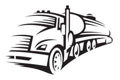bränslelastbil royaltyfri illustrationer