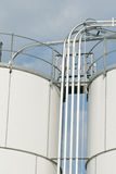bränslelinjer lagringsbehållare Royaltyfria Bilder