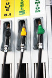 Bränslepump på bensinstationen Fotografering för Bildbyråer
