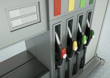 bränslepumpar royaltyfri illustrationer