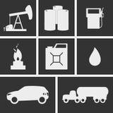Bränslesymboler royaltyfri illustrationer