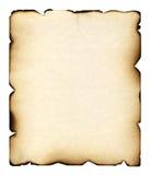 bränt ark Royaltyfria Foton