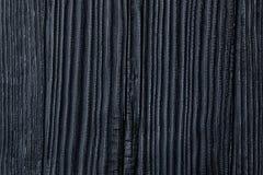 Bränt & bränt till kol trä för svart, Cedar Or Pine House Siding Backgrou Royaltyfria Foton