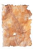 bränt gammalt papper för kanter Arkivfoto
