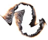 bränt hålpapper Royaltyfri Foto