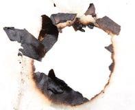 bränt hålpapper Royaltyfri Bild
