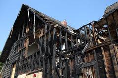 bränt Kalifornien hus pasadena Royaltyfri Bild