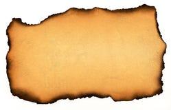 bränt papper arkivfoto