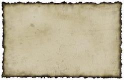 bränt papper Arkivbild