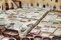 Bräunende Gruben in Fes lizenzfreie stockfotos