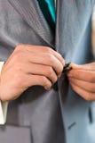 Bräutigam auf Hochzeit Stockbilder