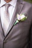 Bräutigam auf Hochzeit Stockfoto