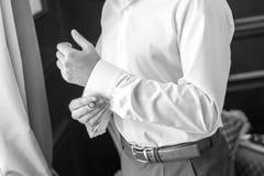Bräutigam auf Hochzeit Lizenzfreie Stockbilder