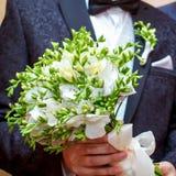 Bräutigam auf Hochzeit Stockbild