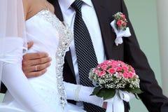 Bräutigam und Braut Stockfotografie