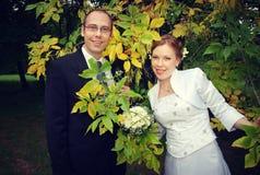 Bräutigam und Braut Stockbild