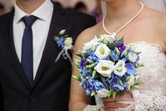 Bräutigam und Braut Stockbilder