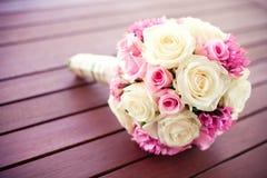 Bräutlicher rosafarbener Blumenstrauß Lizenzfreies Stockfoto