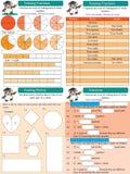 Bråkdelar för matematikuppsättning 1 Royaltyfria Foton